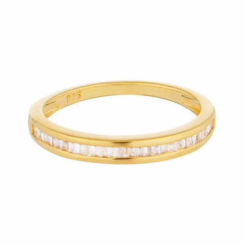 14k Gold Vermeil Baguette Cut Diamond Band