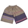 """Only One"" Wide pants short in wool & cotton - violet & pink, front"