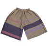 """Only One"" Wide pants short in wool & cotton - violet & pink, back"