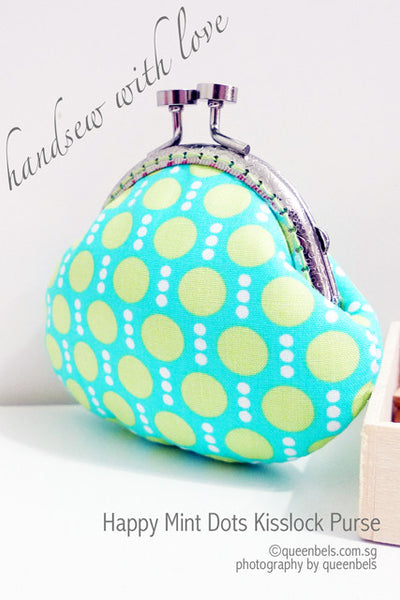 Happy Mint Dots Kisslock Purse