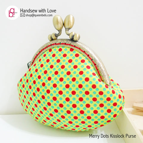Merry Dots Kisslock Purse (NEW frame!)