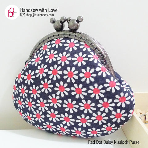 Red Dot Daisy Kisslock Purse