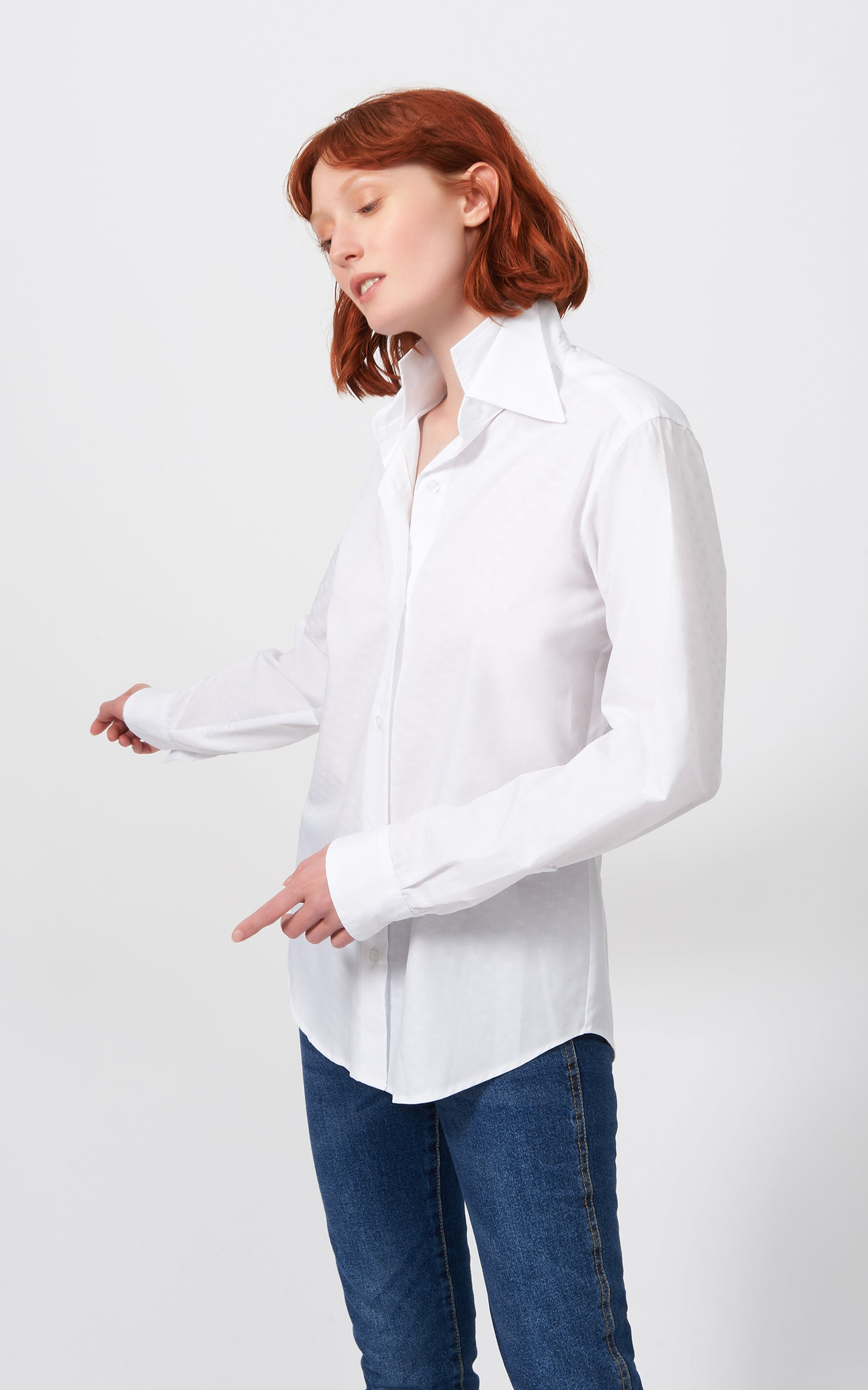 DOUBLE COLLAR SHIRT - WHITE STARS