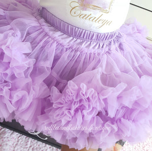 Kryssi Kouture Soft Mauve Purple Tutu/Pettieskirt Bloomers - Pettie Coat - Birthday Outfit -  Birthday Outfit - Mermaid Birthday tutu