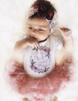 Kryssi Kouture Baby For This Child I Have Prayed Newborn Shower Gift