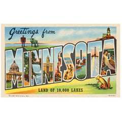 Greetings From Minnesota Postcard Print