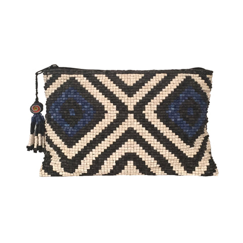 Castano Handmade Ceramic Beaded Clutch