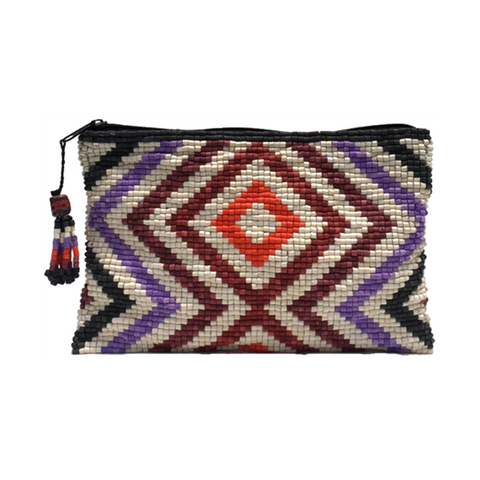 Cuilapa Handmade Ceramic Beaded Clutch