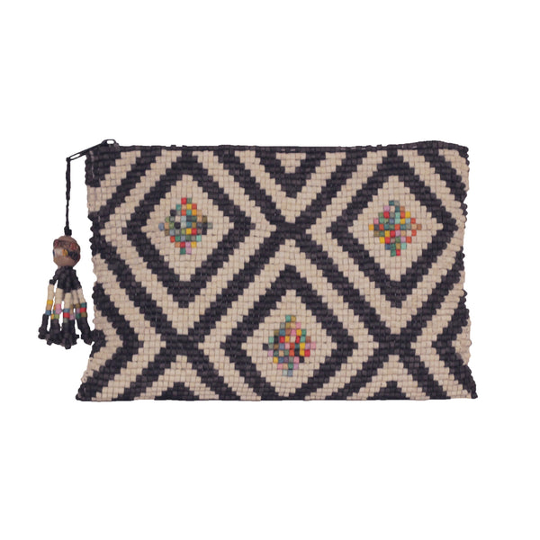 Ostuncalco Handmade Ceramic Beaded Clutch