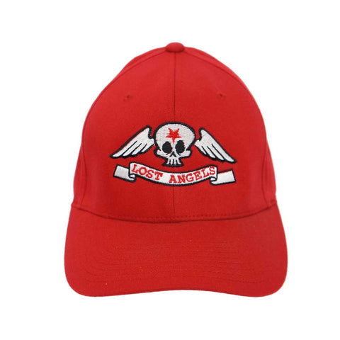 Lost Angels Skull Hat- Red