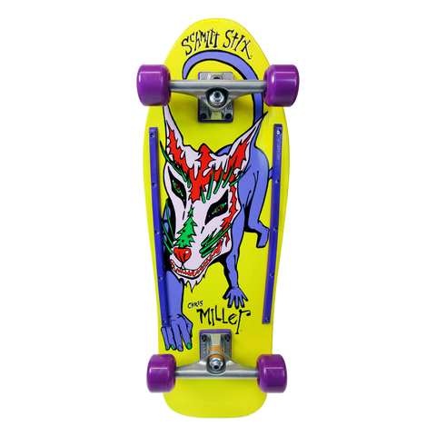 "Schmitt Stix Chris Miller Dog Large Re-issue Complete Skateboard- 10""x31.875""  WB""15.5"