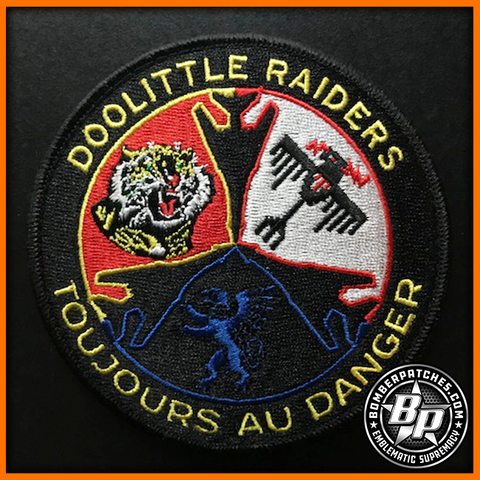 "28th Operations Group ""Doolittle Raiders"" Embroidered Patch, B-1B, Ellsworth AFB, Full Color"