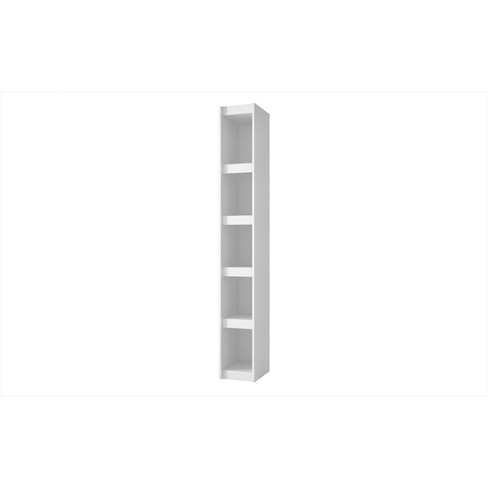 Accentuations by Manhattan Comfort Valuable Parana Bookcase 1.0 with 5-Shelves in White Manhattan Comfort-Bookcases - - 1