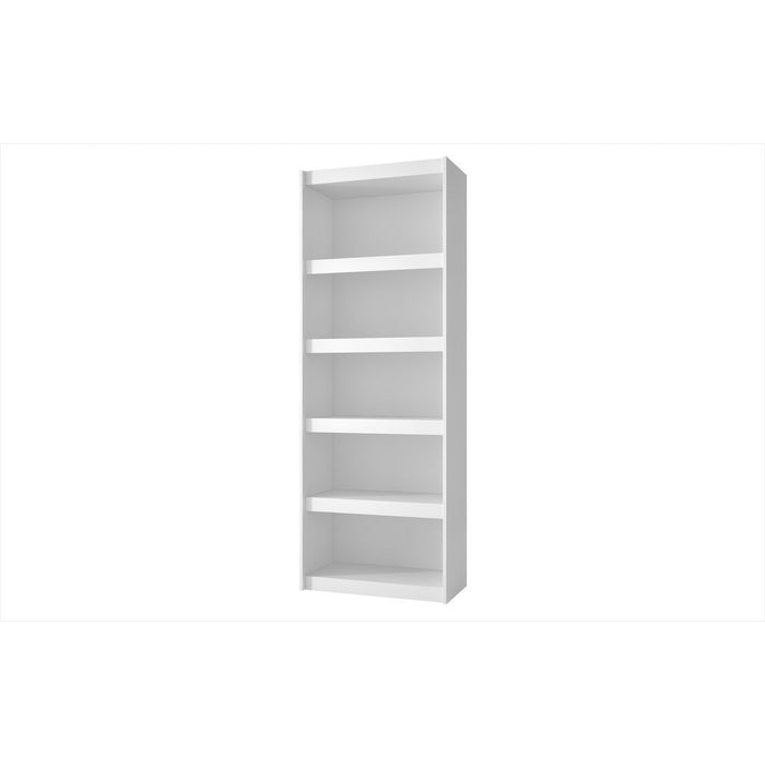 Accentuations by Manhattan Comfort Valuable Parana Bookcase 3.0 with 5-Shelves in White Manhattan Comfort-Bookcases - - 1