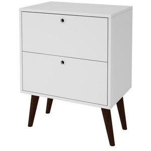 Accentuations by Manhattan Comfort Taby 2- Drawer Nightstand in WhiteManhattan Comfort-Nightstand- - 1