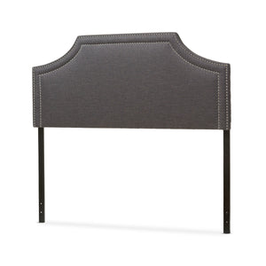Baxton Studio Avignon Modern and Contemporary Dark Grey Fabric Upholstered King Size Headboard Baxton Studio-King Headboard-Minimal And Modern - 3