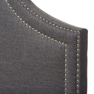 Baxton Studio Avignon Modern and Contemporary Dark Grey Fabric Upholstered King Size Headboard Baxton Studio-King Headboard-Minimal And Modern - 4
