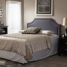 Baxton Studio Avignon Modern and Contemporary Dark Grey Fabric Upholstered King Size Headboard Baxton Studio-King Headboard-Minimal And Modern - 1