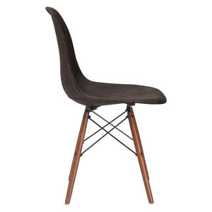 Edgemod Modern Woven Vortex Dining Chair Walnut Base-Minimal & Modern