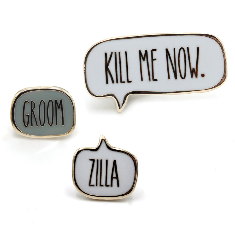 Groomzilla<br> Mini Pin Set