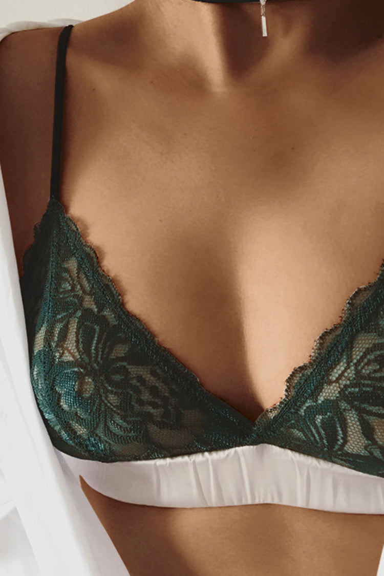 Romantic Green Lace Bralette