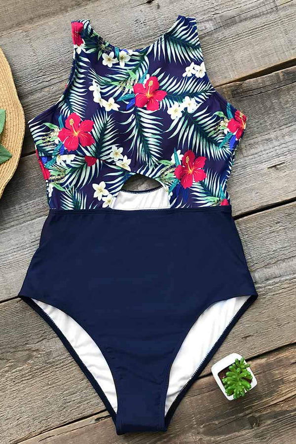 As You Choose Print One-piece Swimsuit