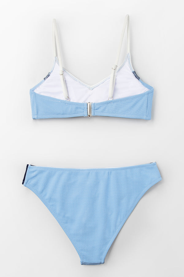 Blue Navy And White Block Bikini