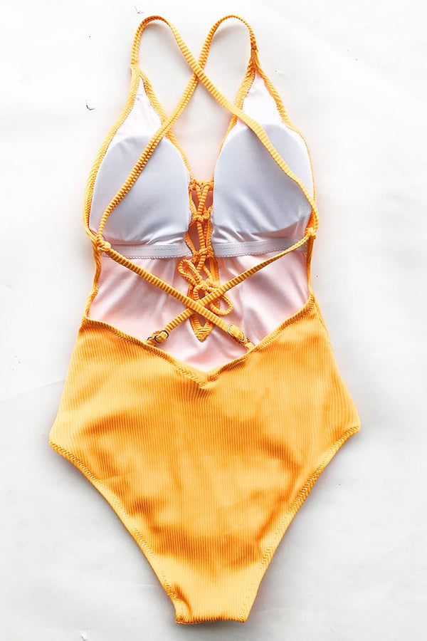 Remind Me Solid One-piece Swimsuit