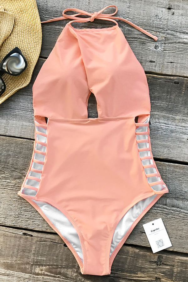 Gone With the Wind Solid One-piece Swimsuit