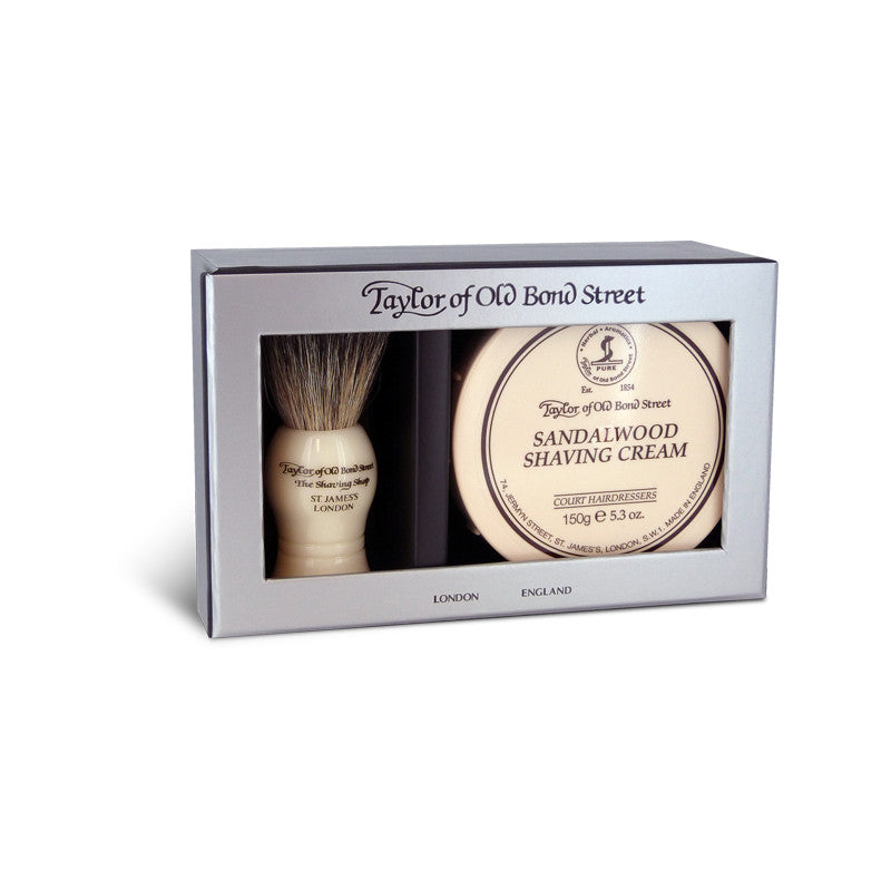 Taylor of Old Bond Street Pure Bager & Sandalwood Shave Cream Gift Box - Cyril R. Salter