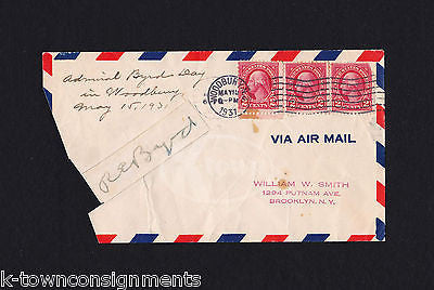 ADMIRAL RICHARD BYRD DAY WOODBURY NJ ORIGINAL AUTOGRAPH SIGNED AIR MAIL COVER - K-townConsignments