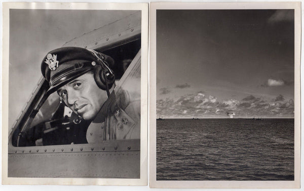WWII ATOMIC BOMB BAKER WWII PHOTOGRAPER ID CARD & BIKINI ATOLL MILITARY PHOTOS - K-townConsignments