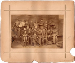 Garth Iron Mine Cardiff Whales UK Mining Workers Antique Occupational Photo
