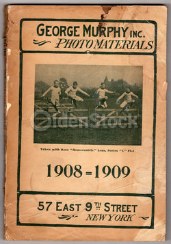 George Murphy Photo Materials 1908 Antique Photographers Studio Supply Catalog