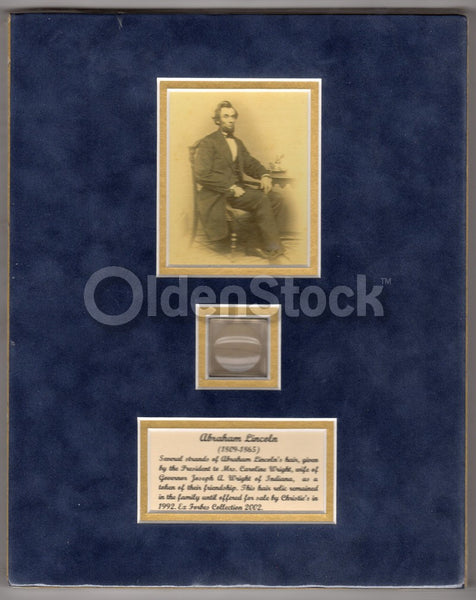 Civil War President Abraham Lincoln Authentic Strands of Hair 1865 Inauguration