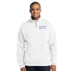 Sigma Tau Gamma Fraternity Embroidered Quarter-Zip Pullover - Jerzees 995M - EMB