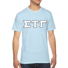 Sigma Tau Gamma American Apparel Jersey Tee with Twill - American Apparel 2001W - TWILL