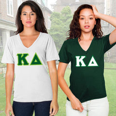 Kappa Delta Horizontal V-Neck Package - American Apparel 2456W - TWILL