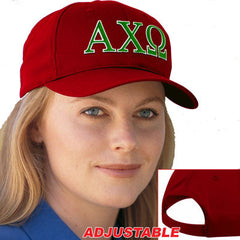 Alpha Chi Omega 2-Color Embroidered Cap - Port and Company CP80 - EMB