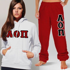Alpha Omicron Pi Hoody / Sweatpant Package - TWILL