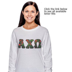 Sorority Panoramic Printed Long-Sleeve Tee - Gildan 424 - SUB