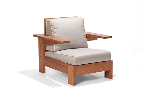 Alvorada Arm Chair FSC® 100% With Natural Acquablock Fabric Cushions