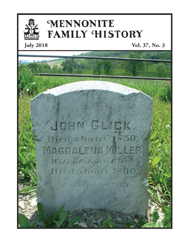 Mennonite Family History July 2018