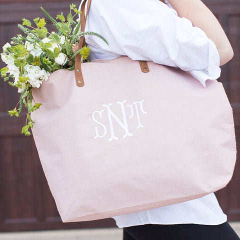 Scallop Tote For Bridesmaid Pink