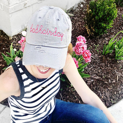 Bad Hair Day Handwriting Stitch Cap | Multiple Colors