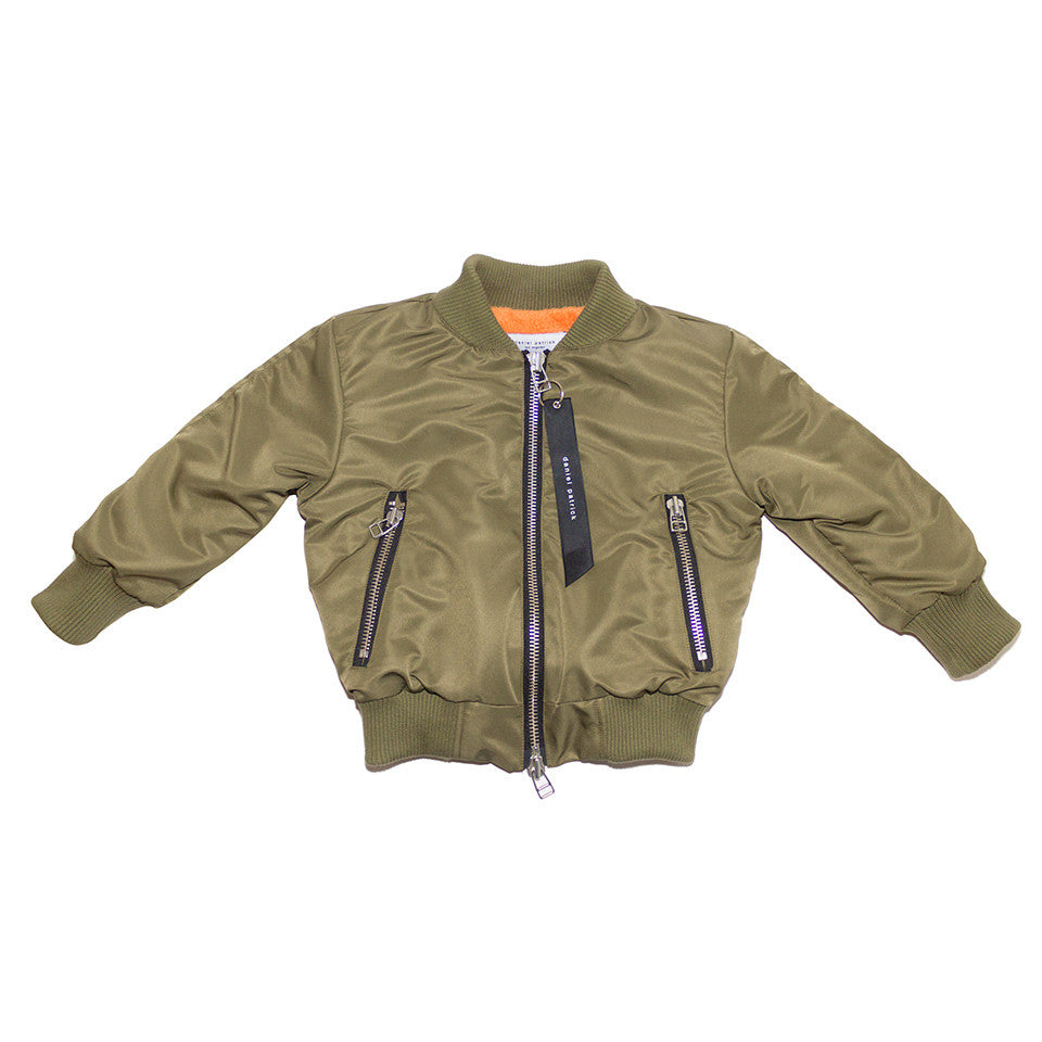 kids hero bomber polar / olive + natural