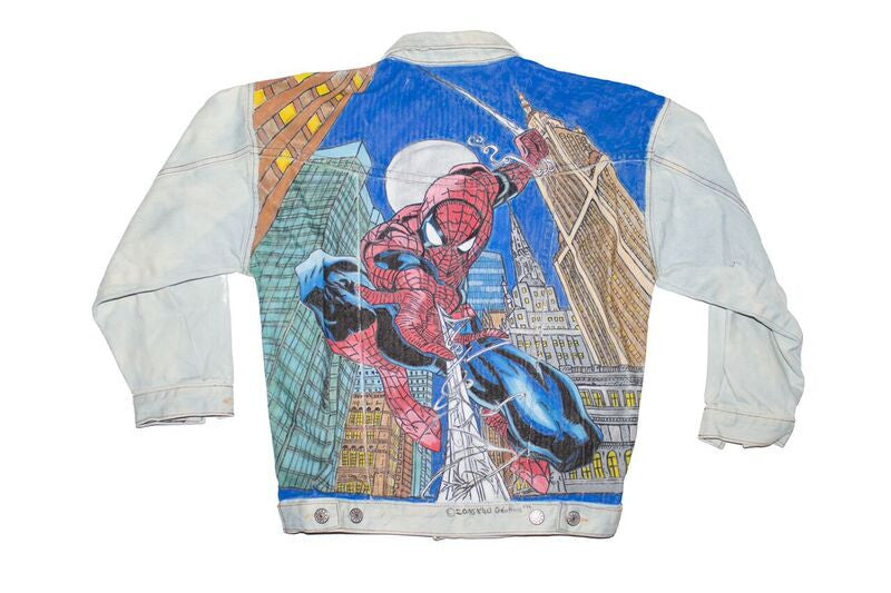 Spiderman Hand Painted Jacket