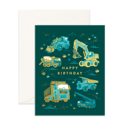 Happy Birthday Trucks Greeting Card