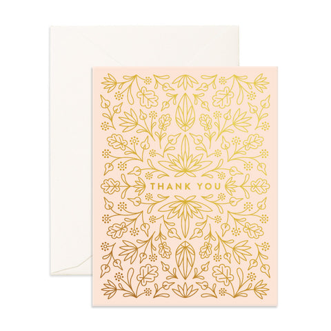 Grecian Thank You Greeting Card