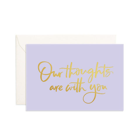 Our Thoughts Purple Mini Greeting Card